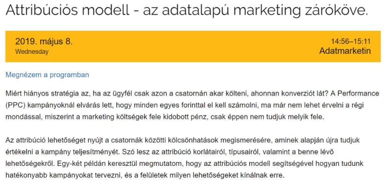 Attribúciós modell - előadás